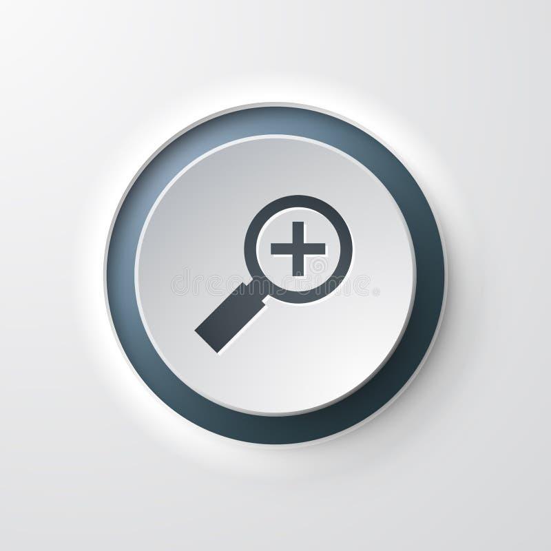 Netzikonen-Druckknopflupe lizenzfreie abbildung