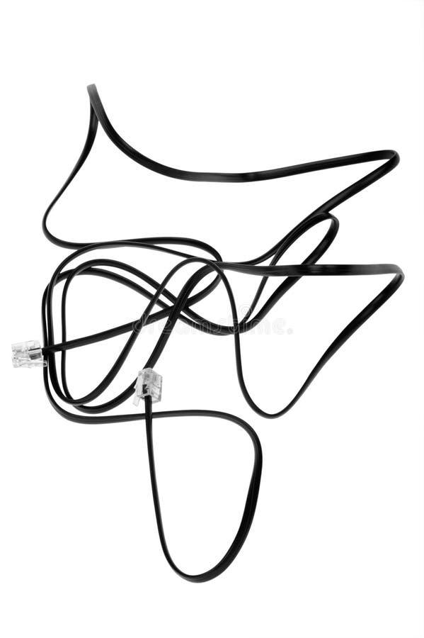 Netzkabel auf Weiß stockbild