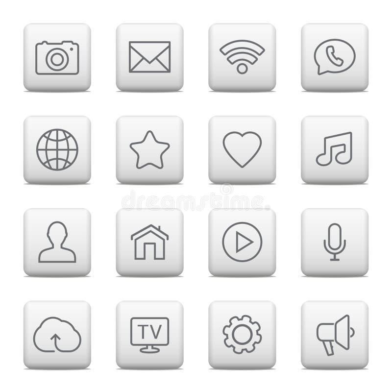 Netzknöpfe und -ikonen für Website stock abbildung