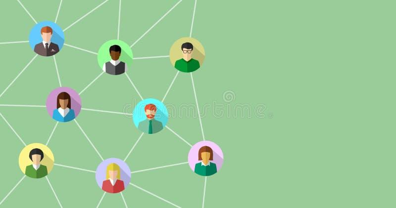 Netzkonzept mit verschiedenen Leuten vektor abbildung