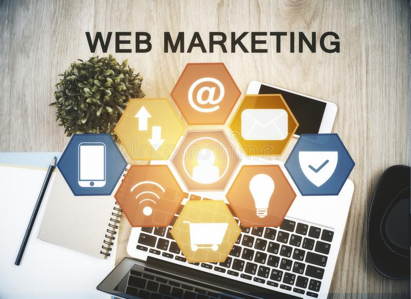 Netzmarketing-Konzept stockfoto