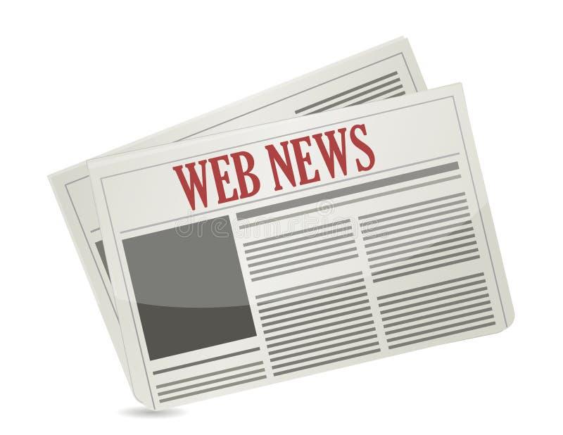 Netznachrichten. Zeitungsillustrationsdesign lizenzfreie abbildung
