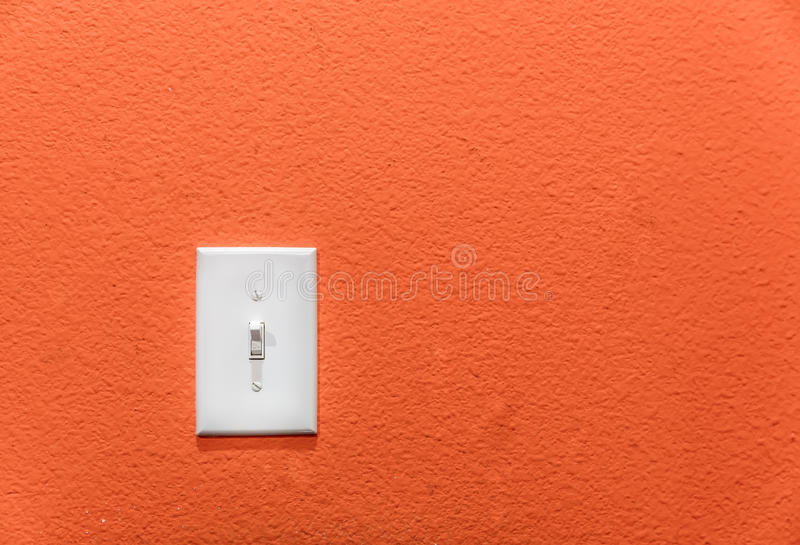 Netzschalter auf der Wand stockbild