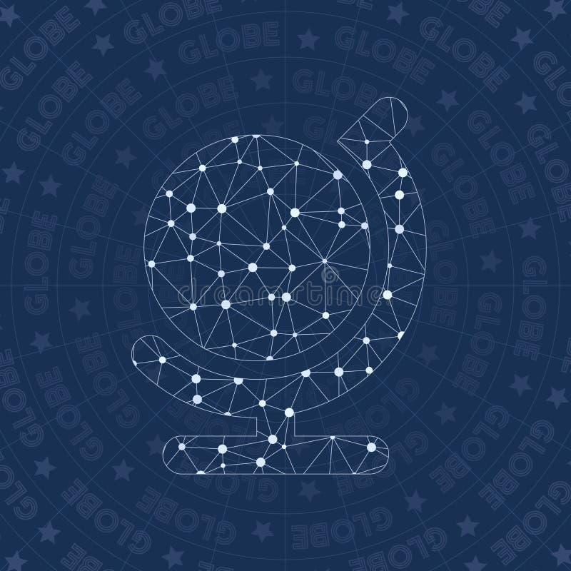 Netzsymbol der Kugel Alt vektor abbildung