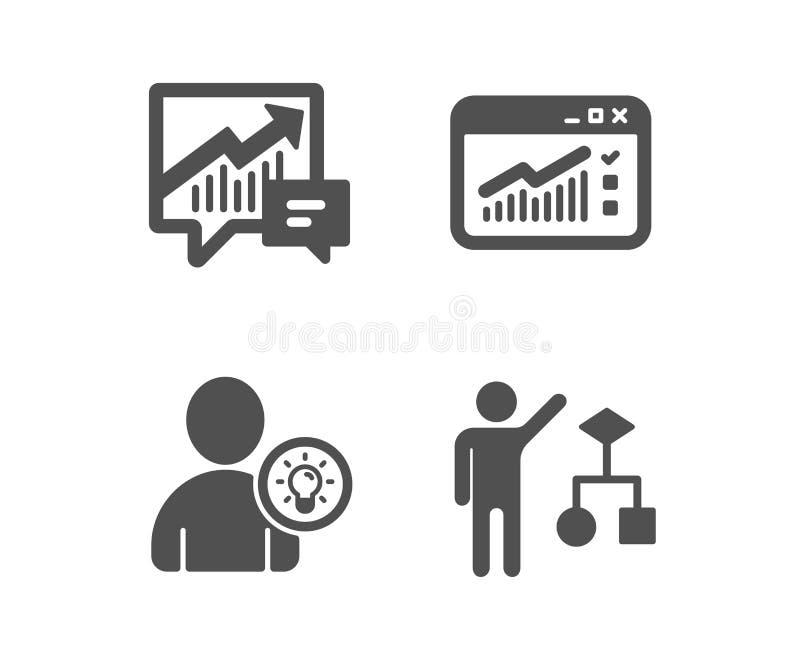 Netzverkehr, Benutzeridee und erklärende Ikonen Algorithmuszeichen Websitefenster, Glühlampe, Angebot und Nachfrage Vektor vektor abbildung