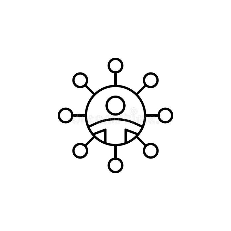 Netzwerk, Link-Symbol Element des professionellen Icons für mobile Konzepte und Web-Apps Thin Line Netzwerk, Link Icon kann für W lizenzfreie abbildung