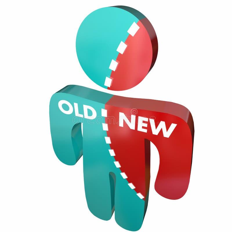 Neu gegen alten Person Update Modern Change vektor abbildung
