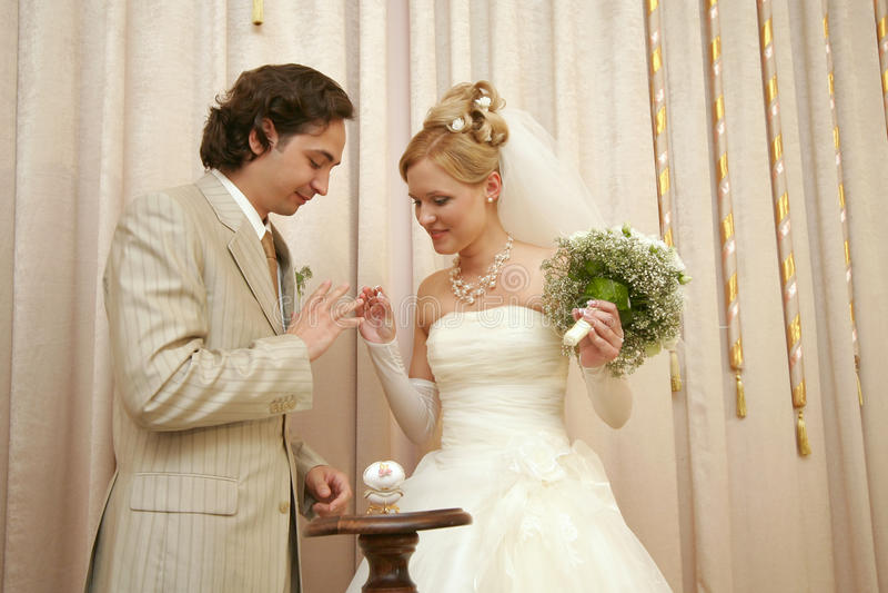 Neu-geheiratet lizenzfreie stockbilder