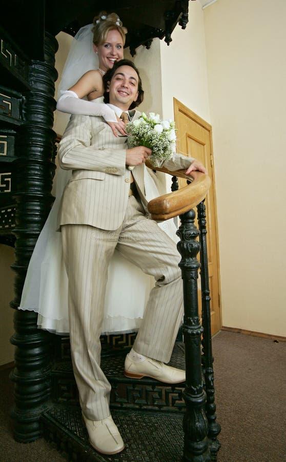 Neu-geheiratet lizenzfreies stockbild