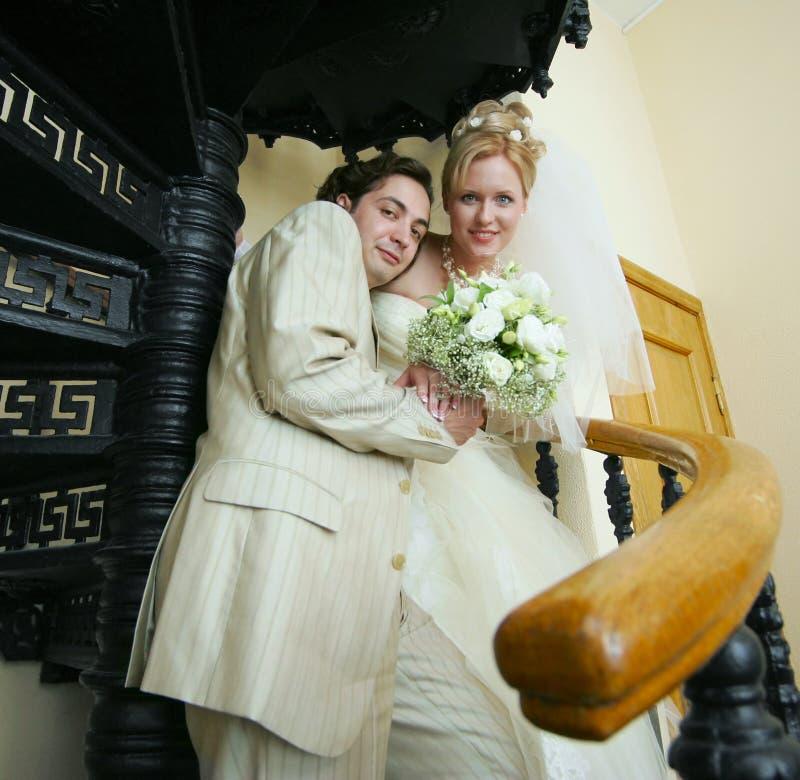 Neu-geheiratet stockfotos