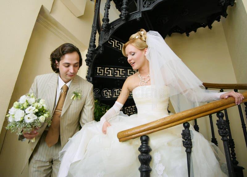 Neu-geheiratet stockfotografie