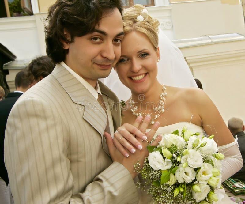 Neu-geheiratet stockfoto