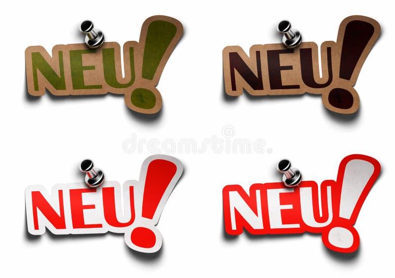 Neu german word for new royalty free illustration