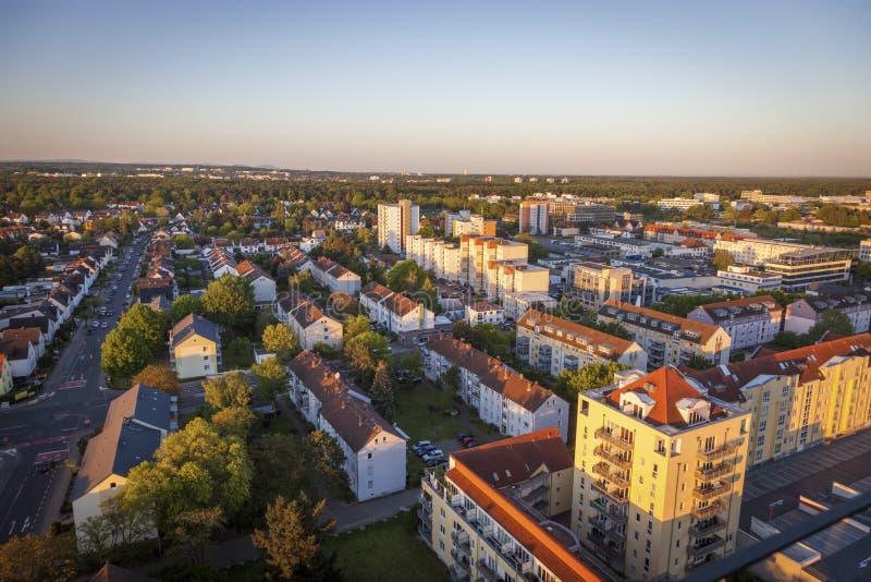 Neu-Isenburg panorama. Frankfurt, Hesse, Germany royalty free stock photo