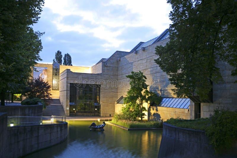 Neu Pinakothek w Monachium, Bavaria fotografia royalty free