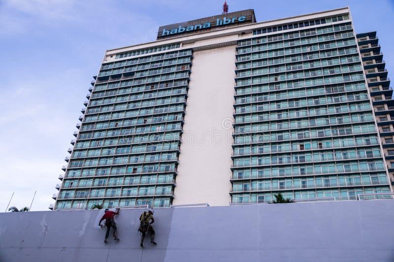 Neu streichen von Hotel Habana Libre in Havana, Kuba lizenzfreies stockfoto