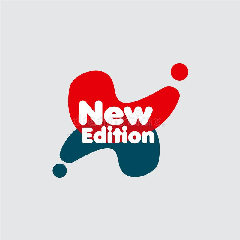 Neuauflage-Aufkleber-Vektor-Schablonen-Entwurfs-Illustration lizenzfreie abbildung