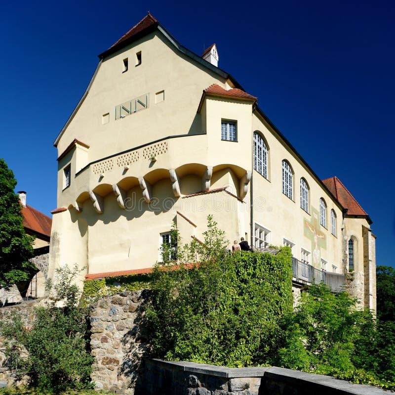 Neuburg Castle on the Inn River stock images
