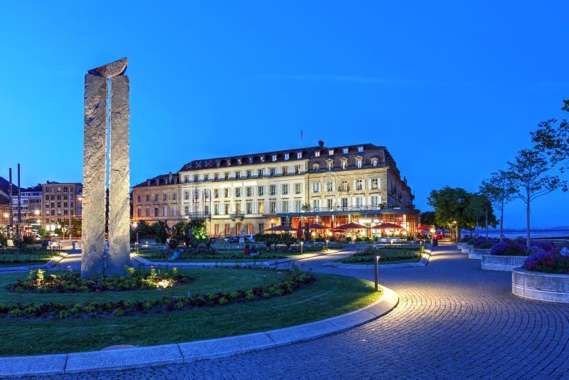 Neuchatel, Schweiz royaltyfria foton