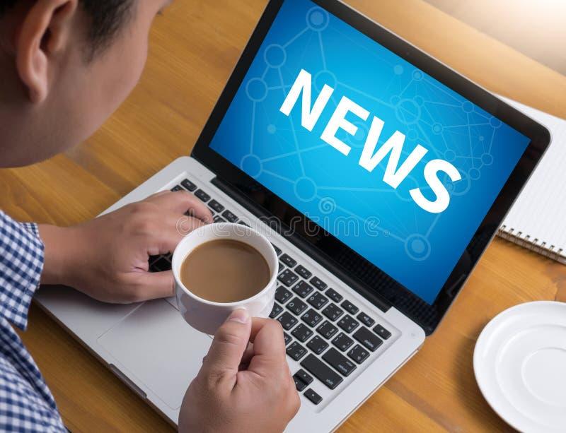 NEUE Aktualisierungs-Schlagzeilen-Medien Live Broadcast Media News zur NEUEN Aktualisierung, Unterhaltungskommunikation NEUE AKTU stockbilder