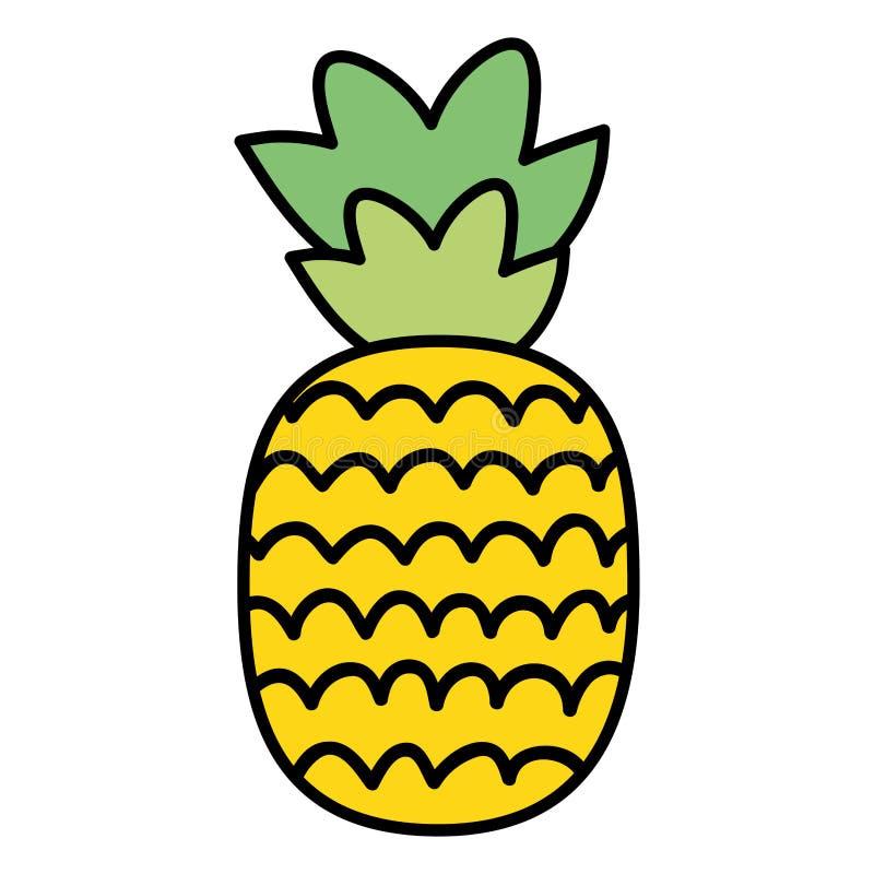 Neue Ananasfrucht-Sommerikone vektor abbildung