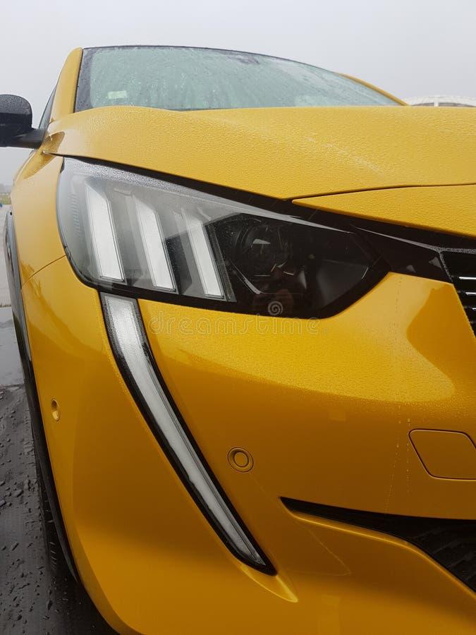 Neue Ausgabe Peugeot 208 2020 stockbild