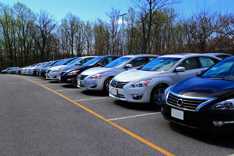 Neue Autos stockfoto