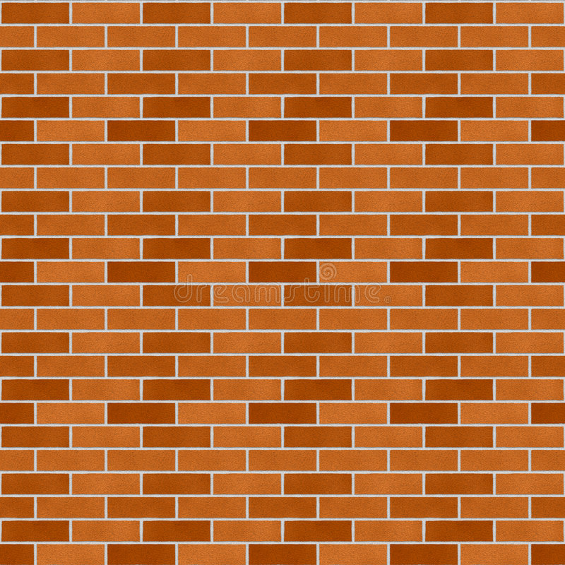 Neue Backsteinmauer lizenzfreie abbildung