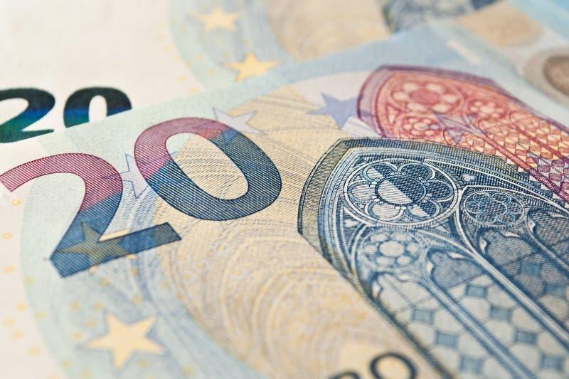 Neue Banknote von zwanzig Euros lizenzfreie stockfotografie