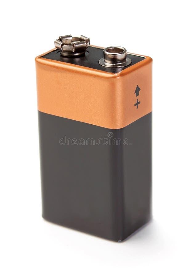 Neue Batterie mit den Anschlüssen. stockfotos