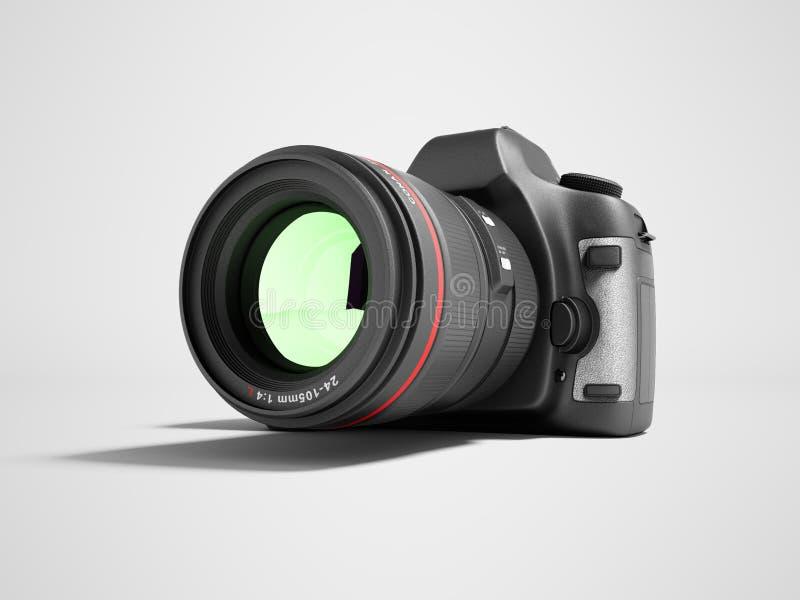 Neue Berufskamera 3d des lauten Summens auf grauem Hintergrund mit Schatten übertragen stock abbildung