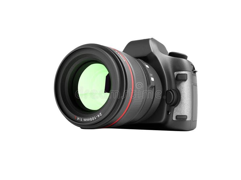 Neue Berufskamera 3d des lauten Summens auf weißem Hintergrund keinen Schatten übertragen vektor abbildung