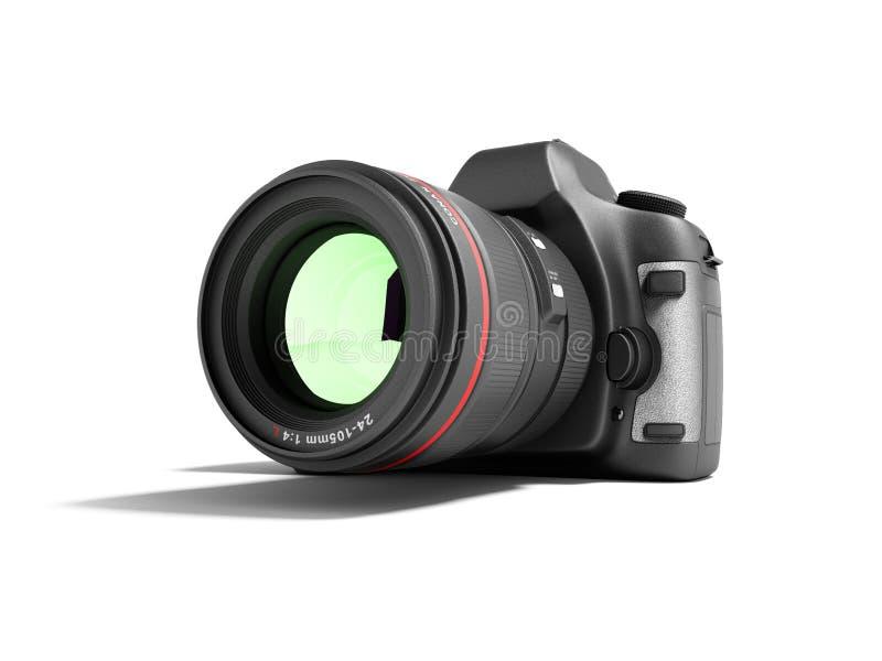 Neue Berufskamera 3d des lauten Summens auf weißem Hintergrund mit Schatten übertragen vektor abbildung