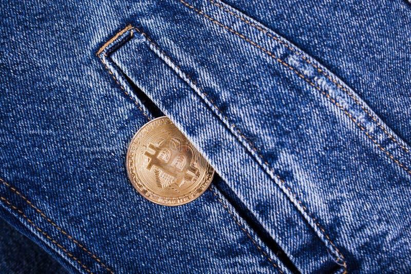 Neue bitcoin Münze lizenzfreie stockfotografie
