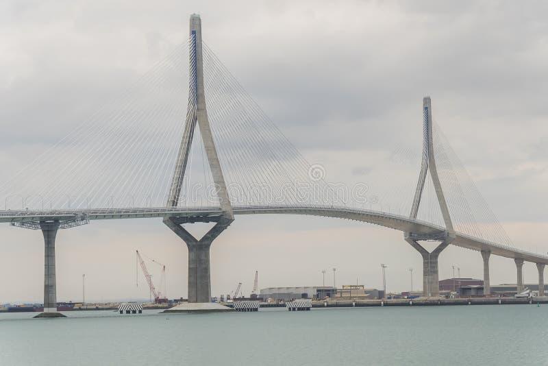 Neue Brückenansicht Cadiz, genannt Pepa oder die Konstitution 1812 und lizenzfreies stockfoto
