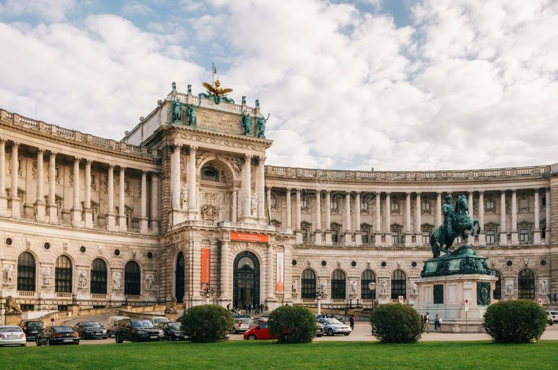 Neue Burg or New Castle of Hofburg Palace, Vienna royalty free stock image