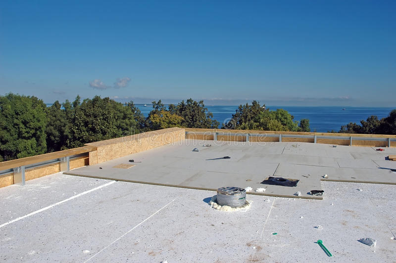 Neue Dachkonstruktion stockfoto