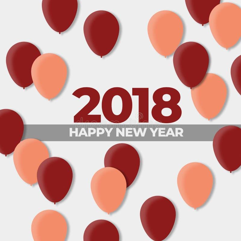 Neue des Ball-Design-Jahre Feiertags-2018 stock abbildung