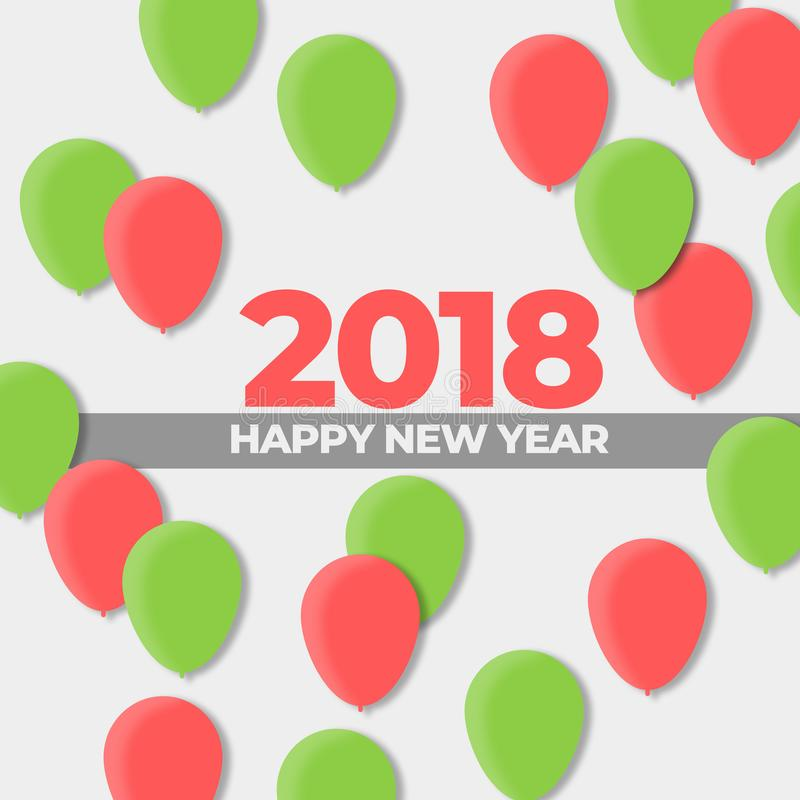 Neue des Ball-Design-Jahre Feiertags-2018 lizenzfreie abbildung