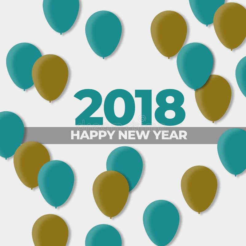 Neue des Ball-Design-Jahre Feiertags-2018 vektor abbildung