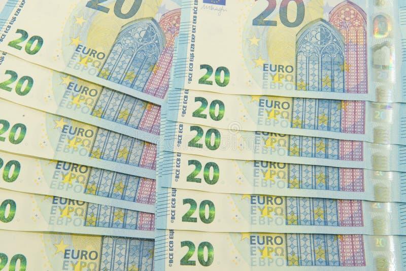 Neue Eurowährung lizenzfreies stockfoto