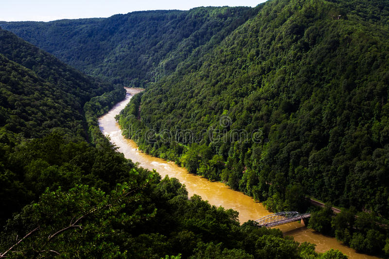 Neue Fluss-Schlucht stockbilder