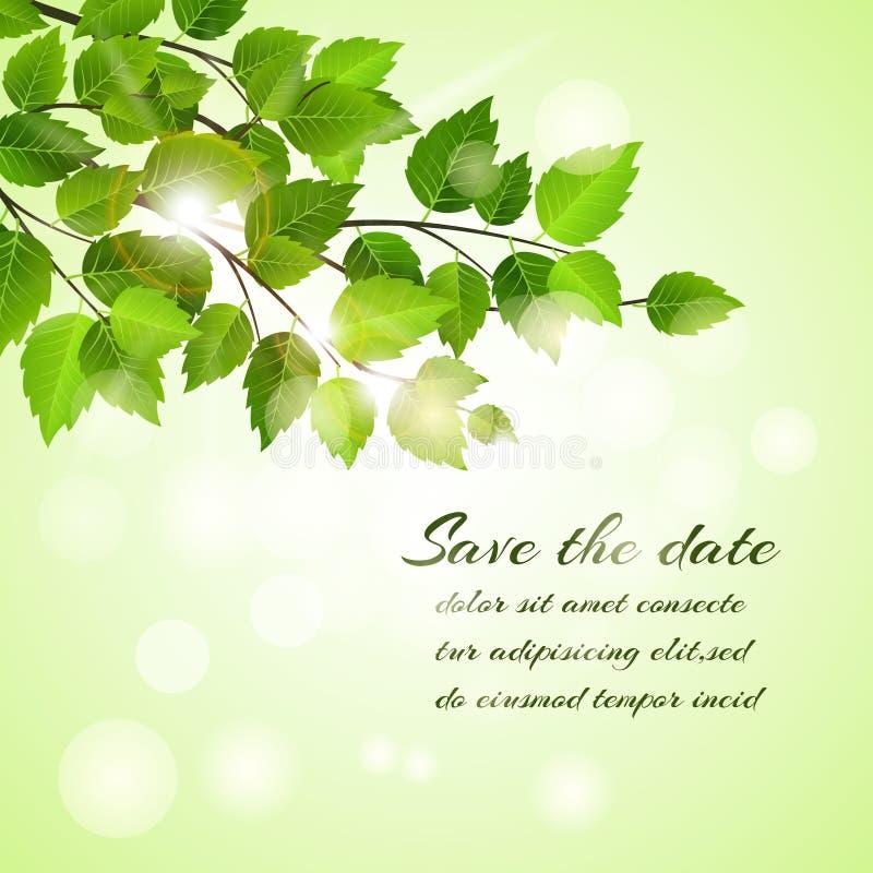 Neue Frühling Abwehr die Datumskarte stock abbildung