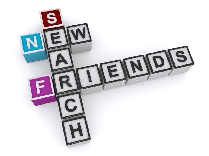 Neue Freunde suchen vektor abbildung