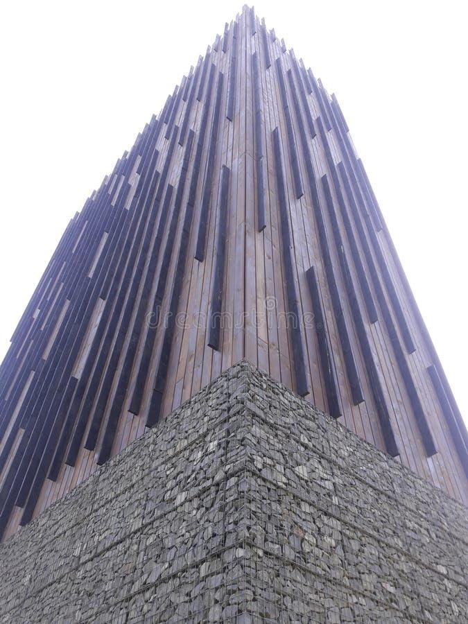 Neue funktionalistische Architektur industrielle Bahnhofsfracht Zizkov Prag in heißem in Mitteleuropa-Protestanten prag lizenzfreie stockbilder