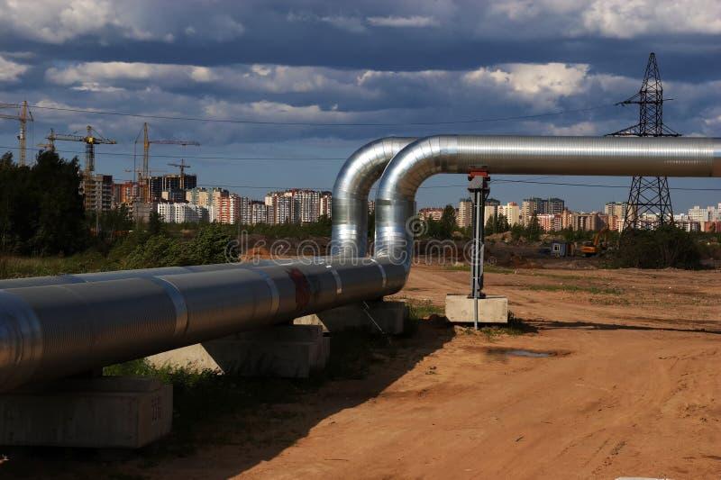 Neue Gashauptleitung lizenzfreies stockfoto