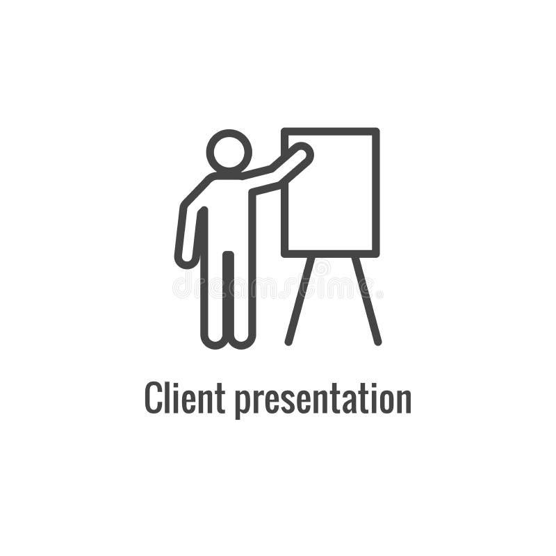 Neue Gesch?ftsprozess-Ikone, Kunden-Darstellungsphase lizenzfreie abbildung