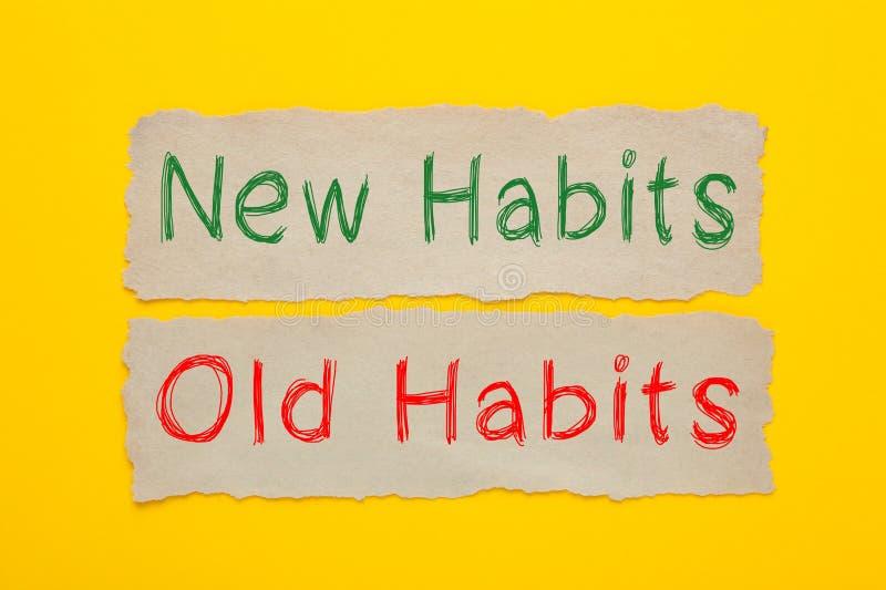 Neue Gewohnheiten und alte Gewohnheiten stockfotos