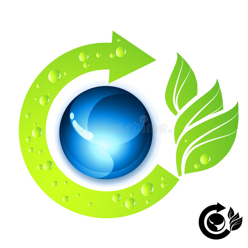 Neue grüne Ikone stock abbildung