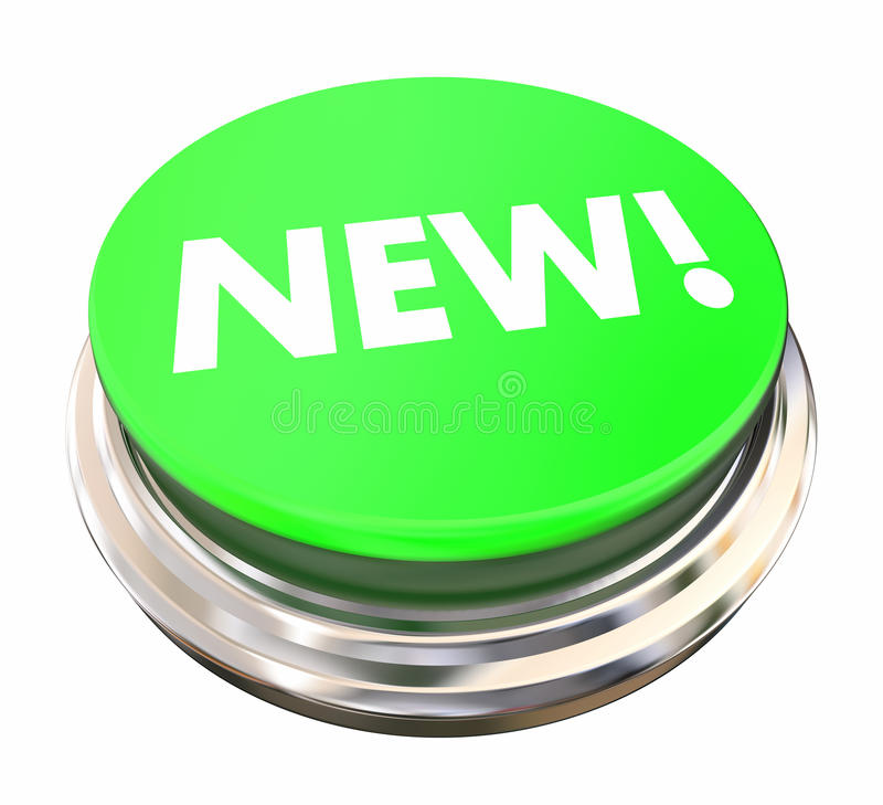 Neue grüne Knopf-Licht-Presse-moderne späteste Aktualisierung stock abbildung